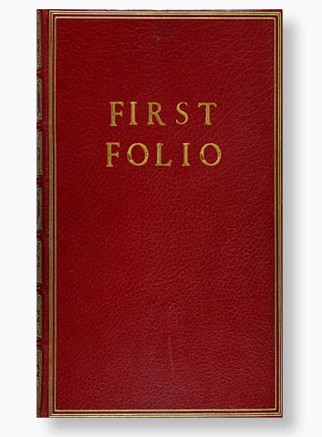 The First Folio Cover